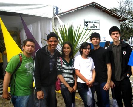 Da esquerda para a direita: Bruno, Diego Botelho, Rayane, Mirelle, Willian e eu.